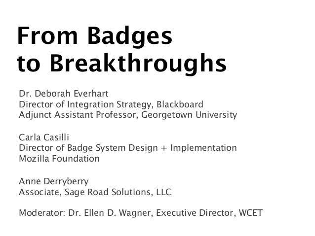 From Badges to Breakthroughs