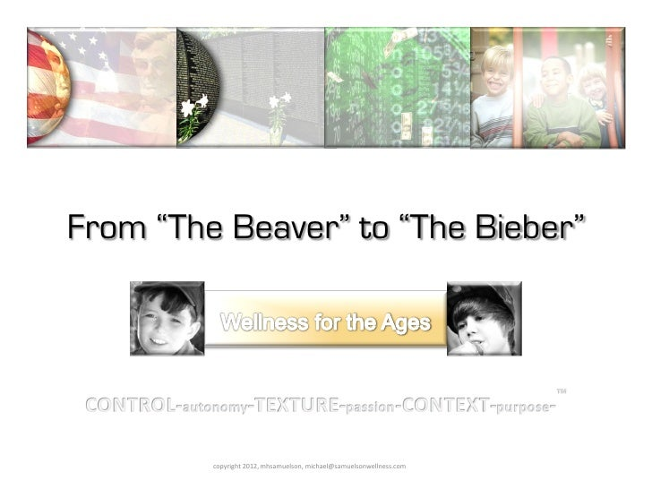 "From ""The Beaver"" to ""The Bieber"" Wellness for the Ages with Michael Samuelson"