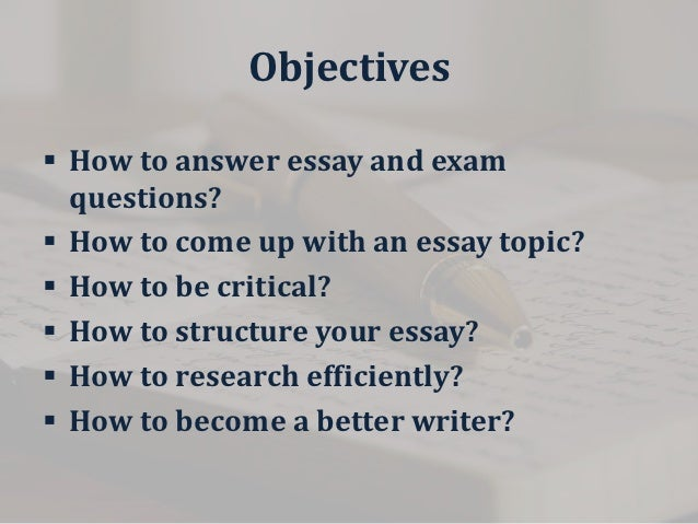 Any tips for writing an in-class essay?