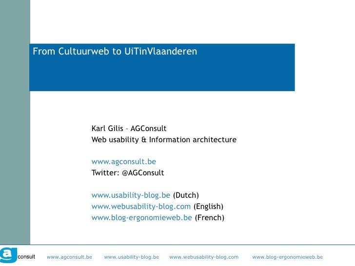 From Cultuurweb To UiTinVlaanderen