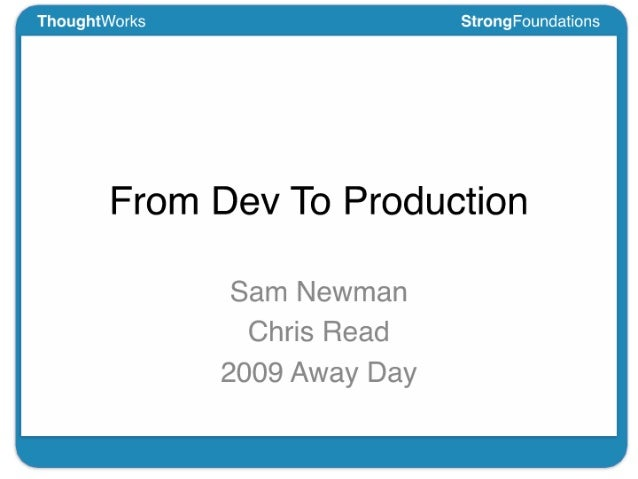From Dev To Production
