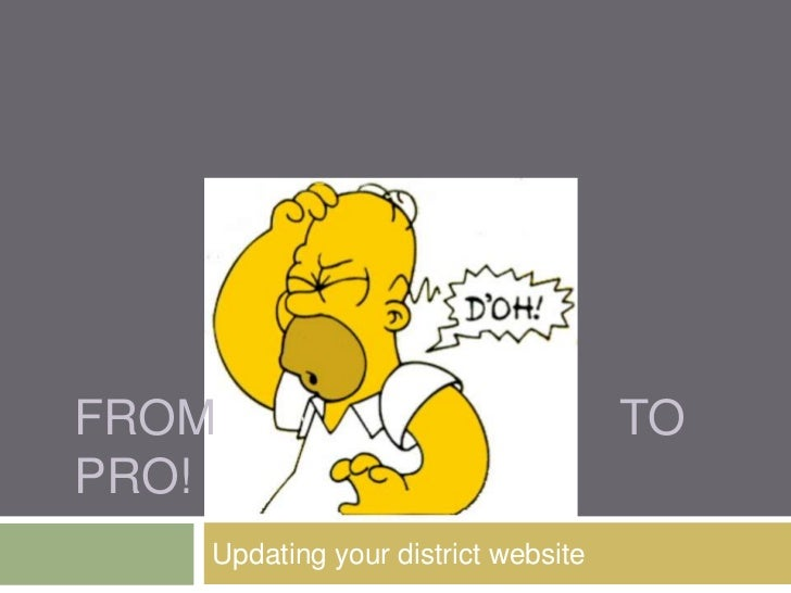 FROM                                TOPRO!   Updating your district website