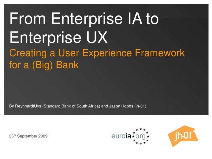 From Enterprise IA To Enterprise UX