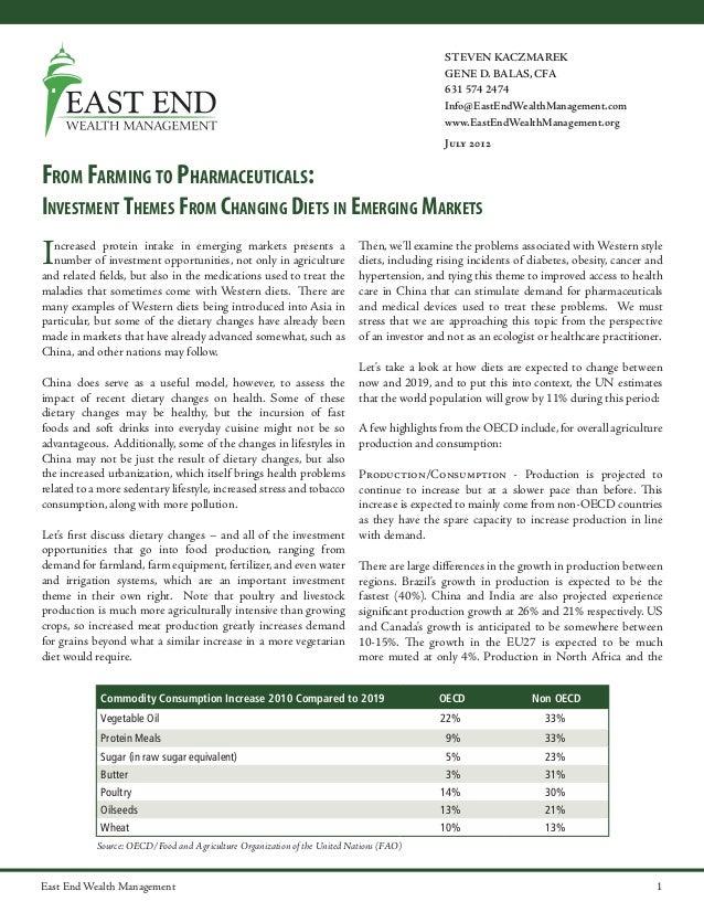 STEVEN KACZMAREK GENE D. BALAS, CFA 631 574 2474 Info@EastEndWealthManagement.com www.EastEndWealthManagement.org July 201...