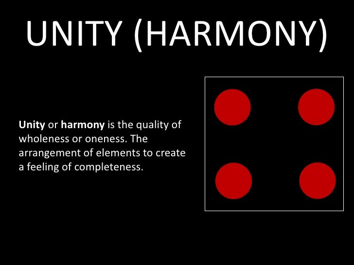 Principles Of Design Unity : Unity harmony or