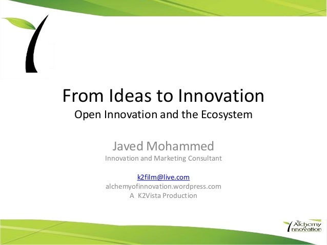 From ideas to innovation