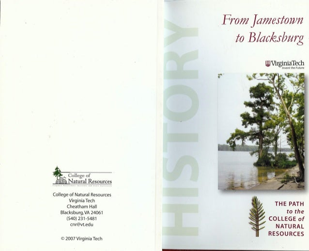 From jamestown to blacksburg