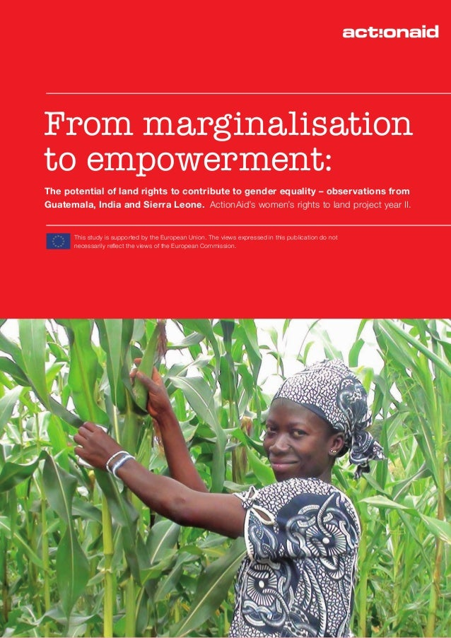 From marginalisation to empowerment: The potential of land rights to contribute to gender equality – observations from Gua...