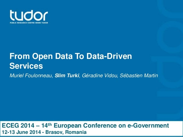 From open data to data-driven services
