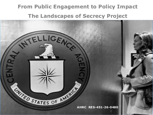 From Public Engagement to Policy Impact The Landscapes of Secrecy Project AHRC RES-451-26-0480