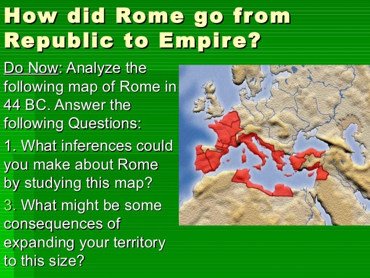 From republic to empire lesson ppt