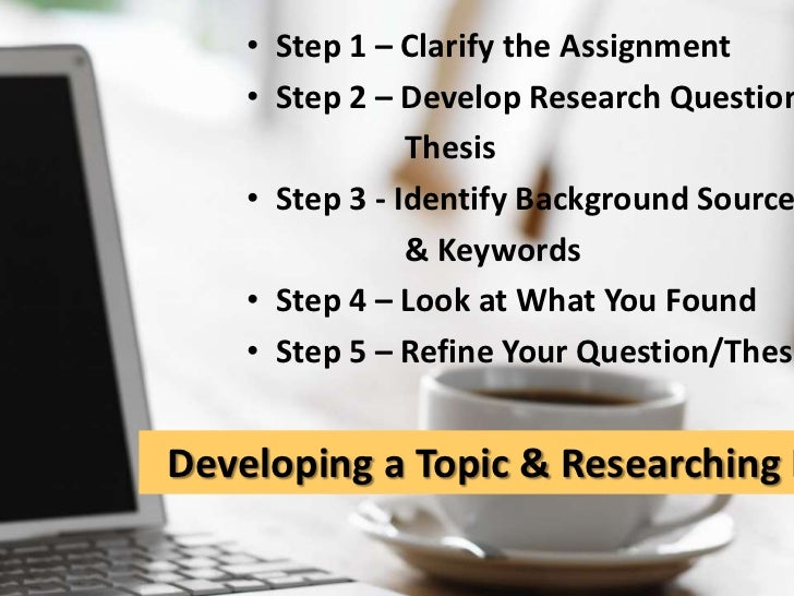 How to develop a research paper