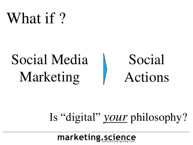 "What if ?Social Media         Social Marketing           Actions      Is ""digital"" your philosophy?"