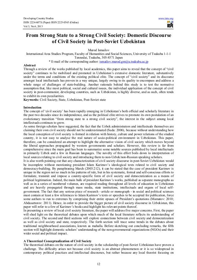 Developing Country Studies www.iiste.org ISSN 2224-607X (Paper) ISSN 2225-0565 (Online) Vol.3, No.6, 2013 12 From Strong S...