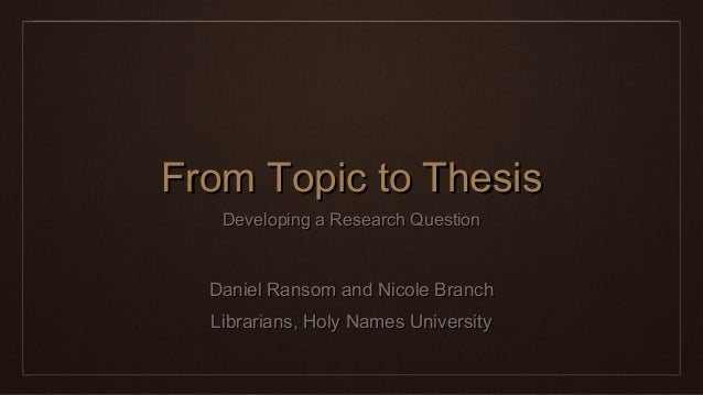 Thesis topic website