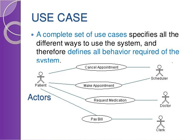 from use case to software architecture   use case  a complete set of use cases specifies