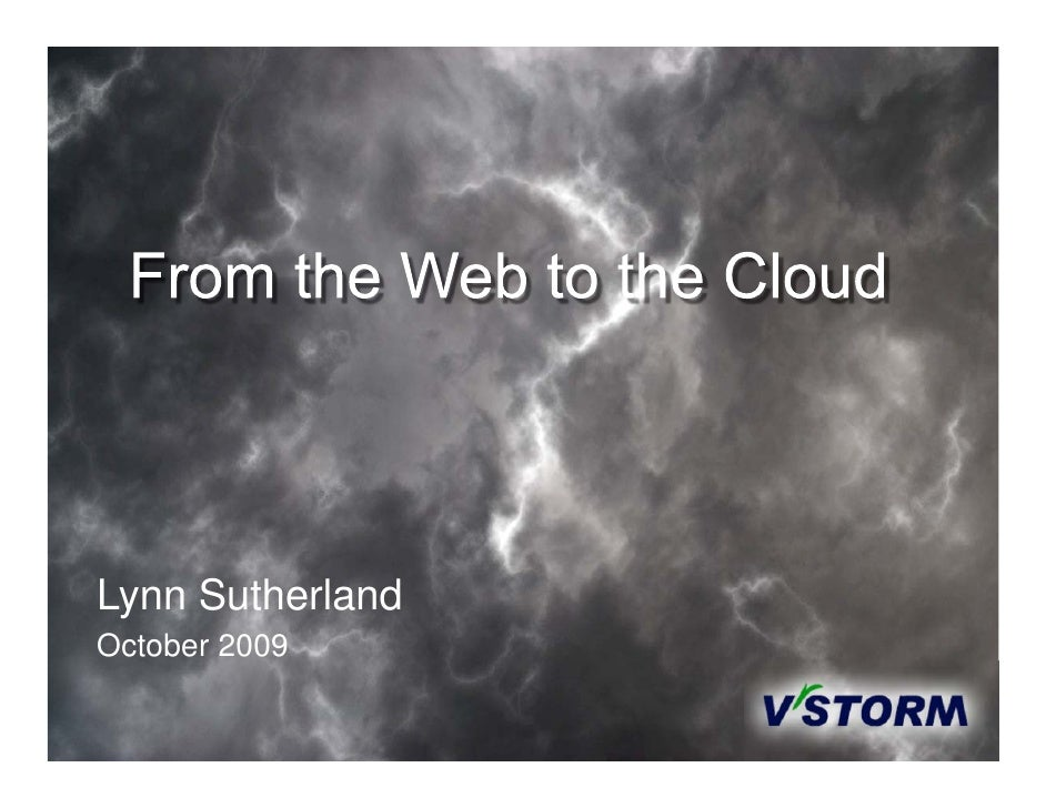 From WWW to Cloud Oct 2009.Pptx