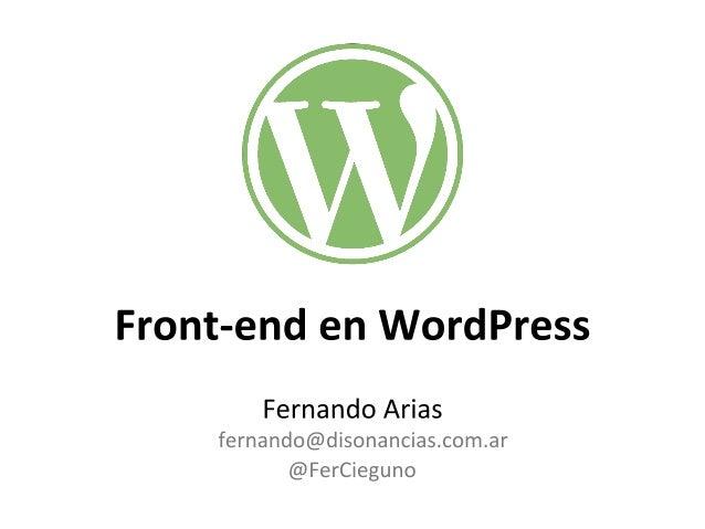 Fernando Arias  Front-end Developer