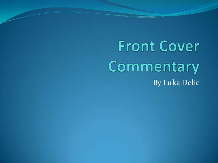 Front Cover Commentary