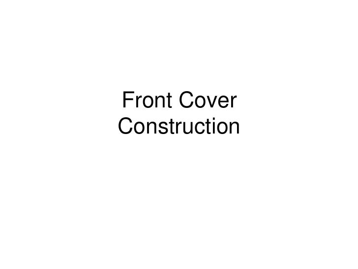 Front CoverConstruction