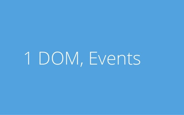 1 DOM, Events