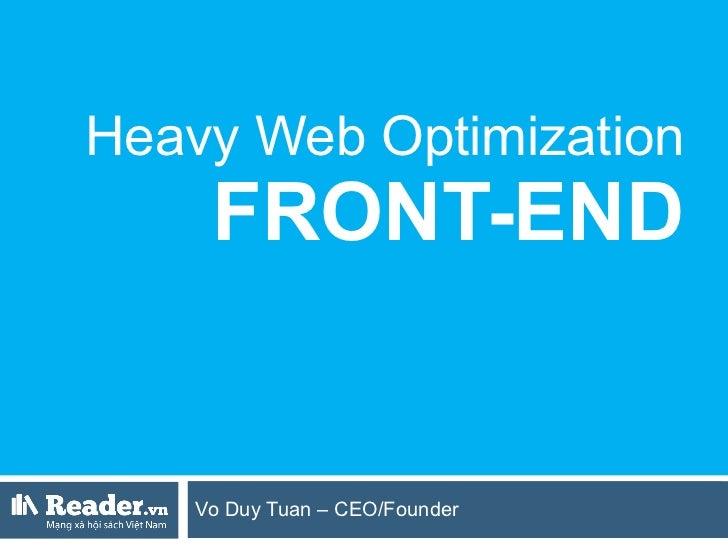 Heavy Web Optimization: Frontend