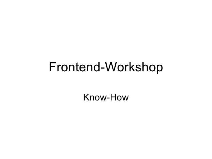 1&1 Frontend Workshop II