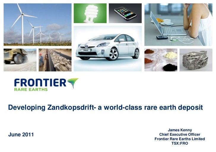 Frontier rare earths investor presentation june 2011