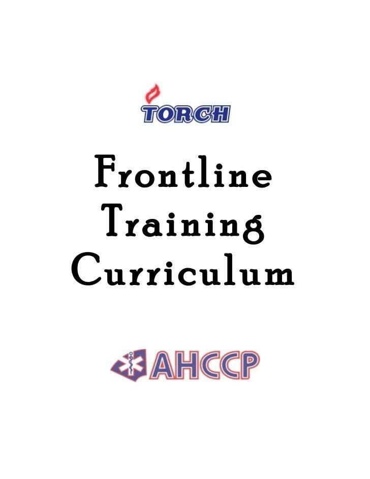 Frontline TrainingCurriculum