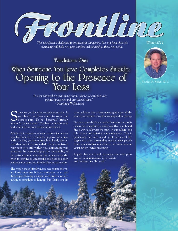 This newsletter is dedicated to professional caregivers. It is our hope that this                   Winter 2012           ...