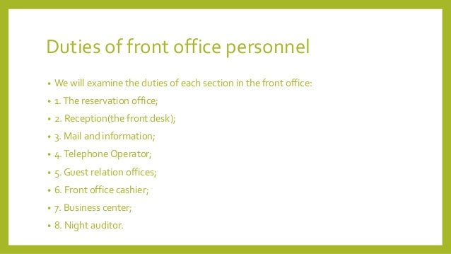 office duties duties of an administrative assistant – Front Desk Job Description