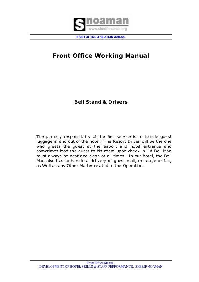 Front Office Deptjob