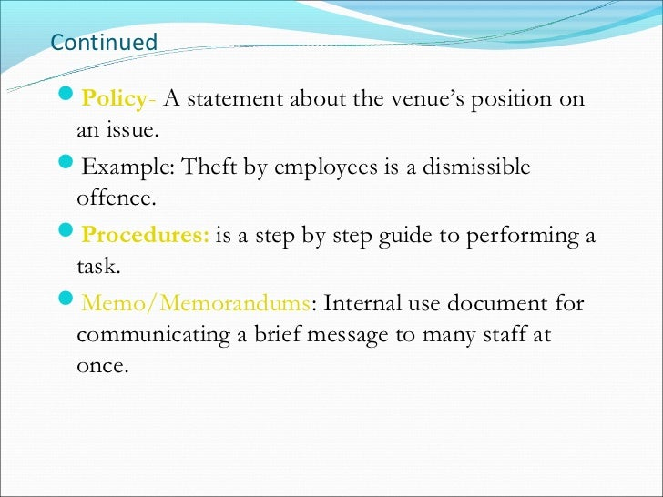 How do you do an In Text citation for Internal company Documents pertaining to Policy and procedure.?