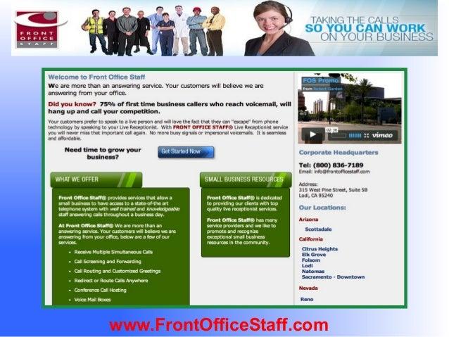 Front Office Staff Presentation