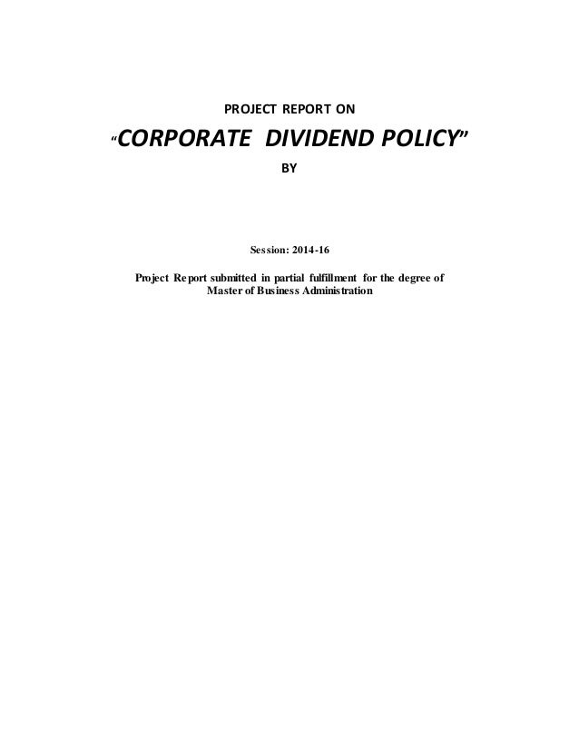 corporate dividend policy and behaviour the Ekonomikum - centre for economic sciences, june 2013 3dividend policy behavior: an analysis of firms listed at stockholm stock exchange the target payout ratio.