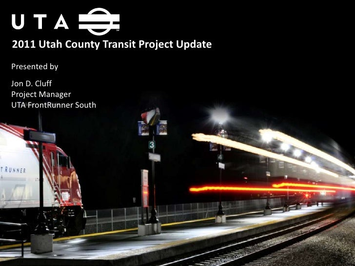 FRONTRUNNER South Project Update 01.19.11