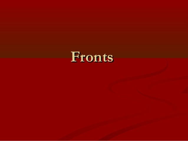 FrontsFronts