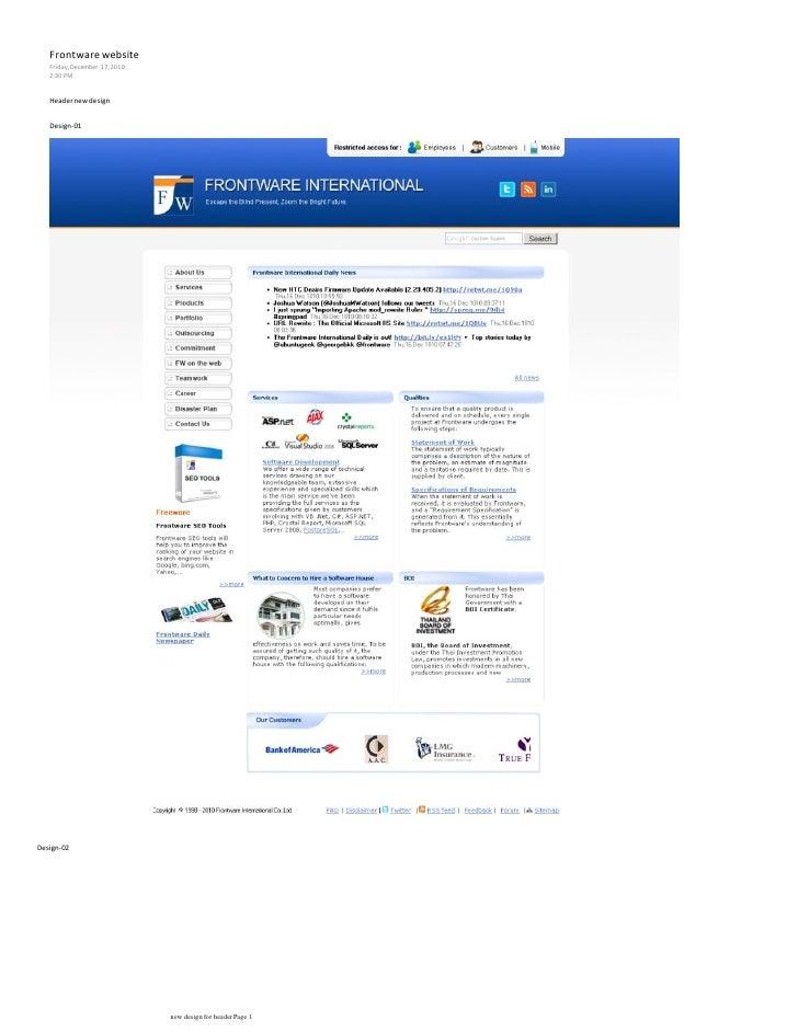 Frontware website   Friday, December 17, 2010   2:30 PM   Header new design   Design-01Design-02                          ...