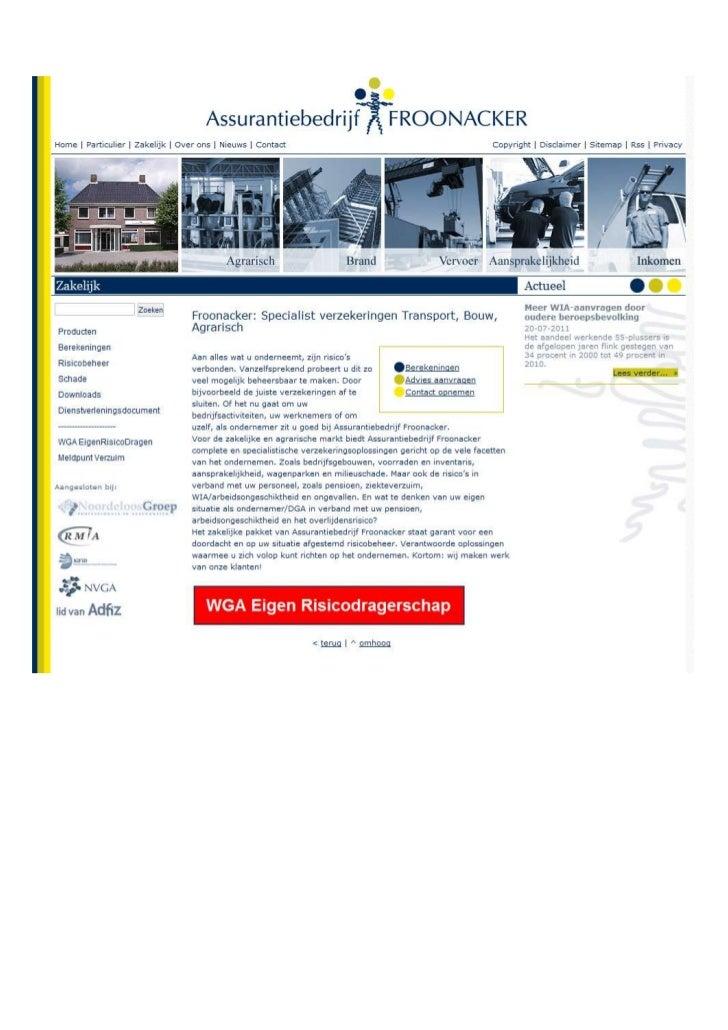 TGJ Communicatie Froonacker Assurantiën webdesign en teksten