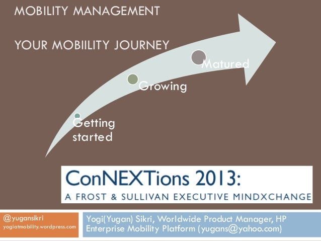 MOBILITY MANAGEMENT    YOUR MOBIILITY JOURNEY                                                          Matured            ...