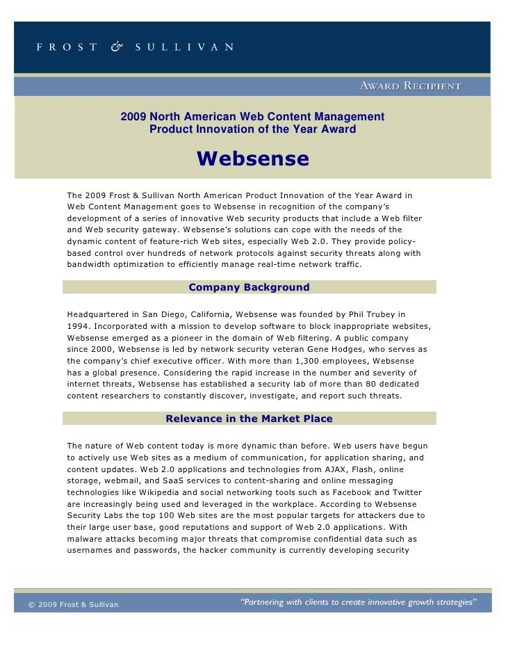 2009 North American Web Content Management                                Product Innovation of the Year Award            ...