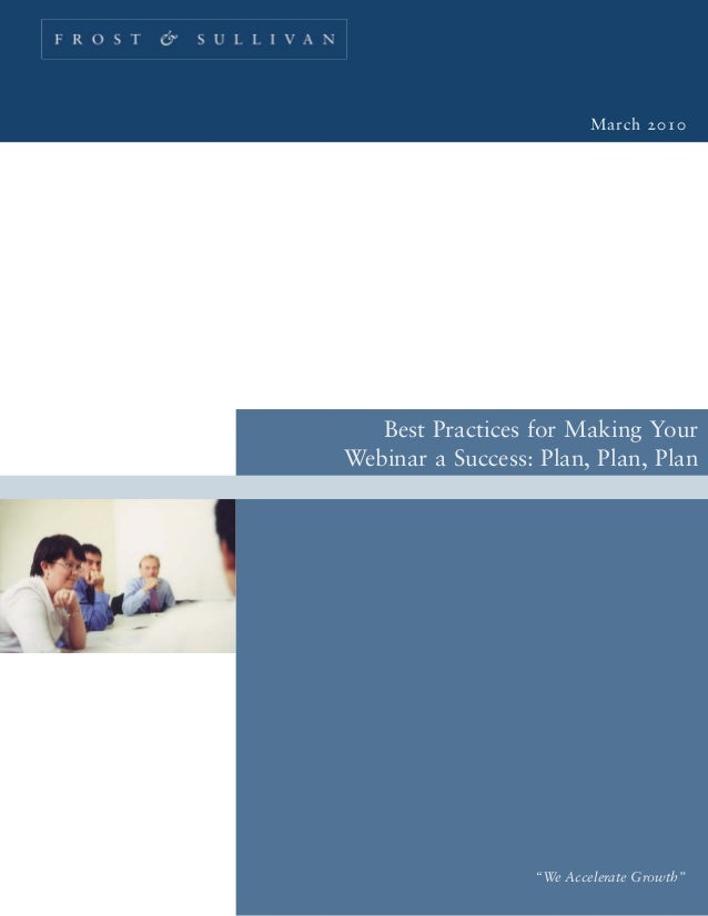Best Practices for Making your Webinar a Success
