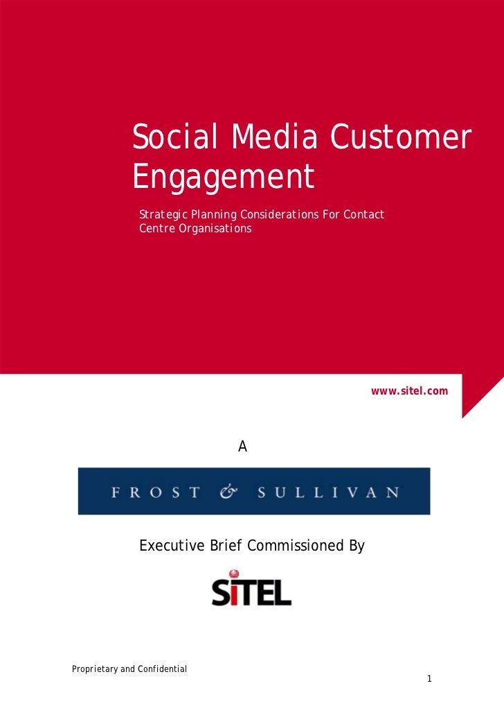 Frost & Sullivan Social Media Customer Engagement White Paper