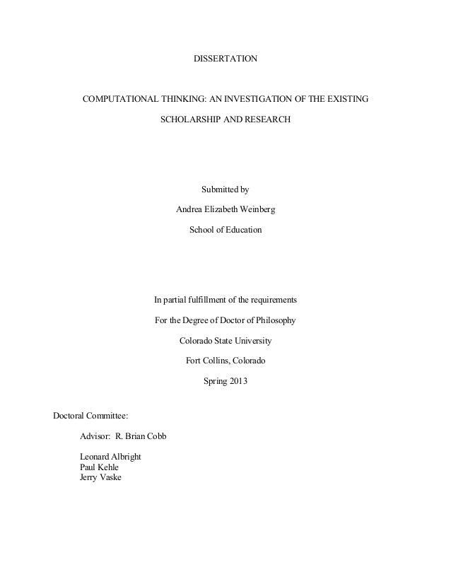Archaeology Dissertation Proposal