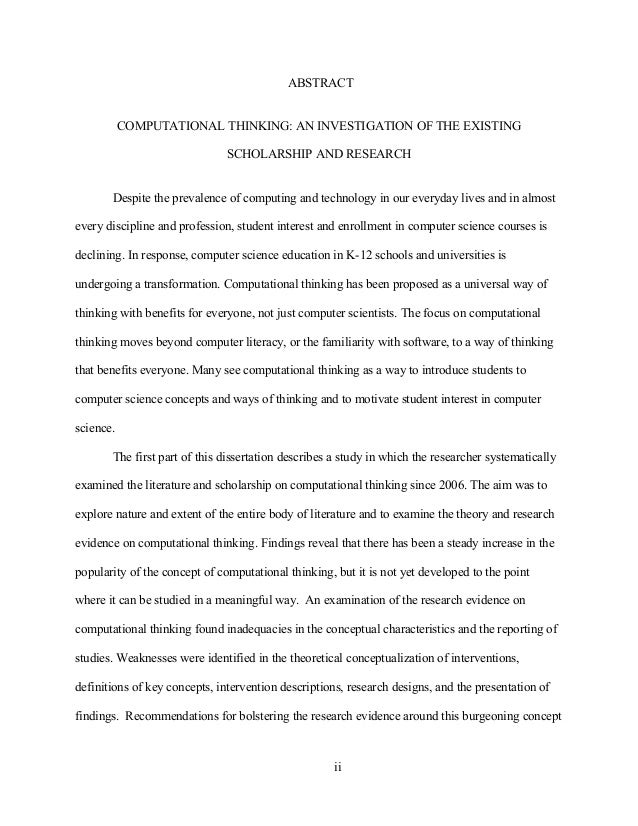 Abstract History Dissertation