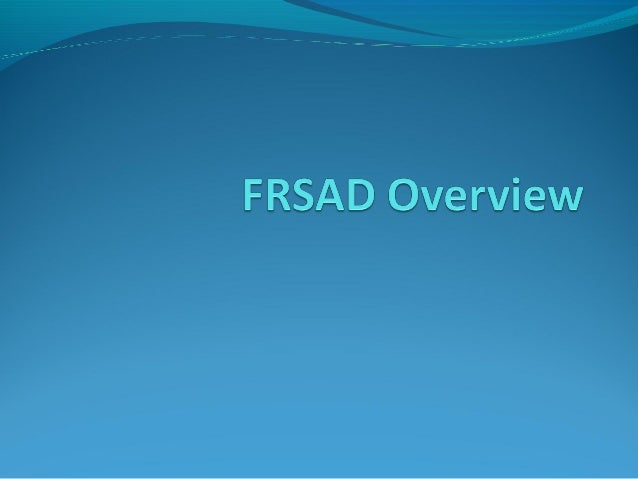 OutlineFRBR family modelsFRSAD  Entities  Relationships  Attributes  ExamplesFRBR family models and RDA