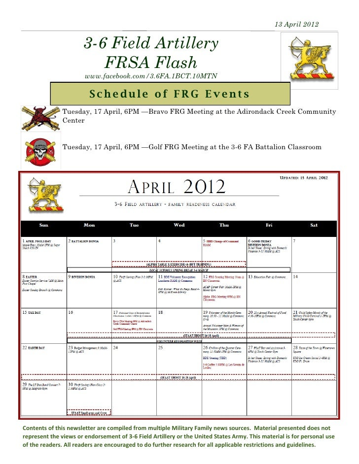 13 April 2012                      3-6 Field Artillery                         FRSA Flash                       www.facebo...