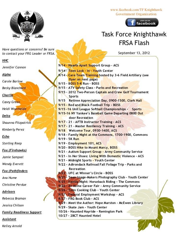 FRSA Flash 13 September 2012