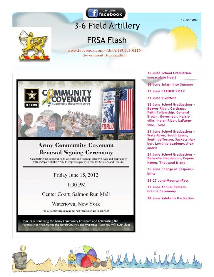 15 June 2012  3-6 Field Artillery        FRSA Flashwww.facebook.com/3.6FA.1BCT.10MTN      Government Organization         ...