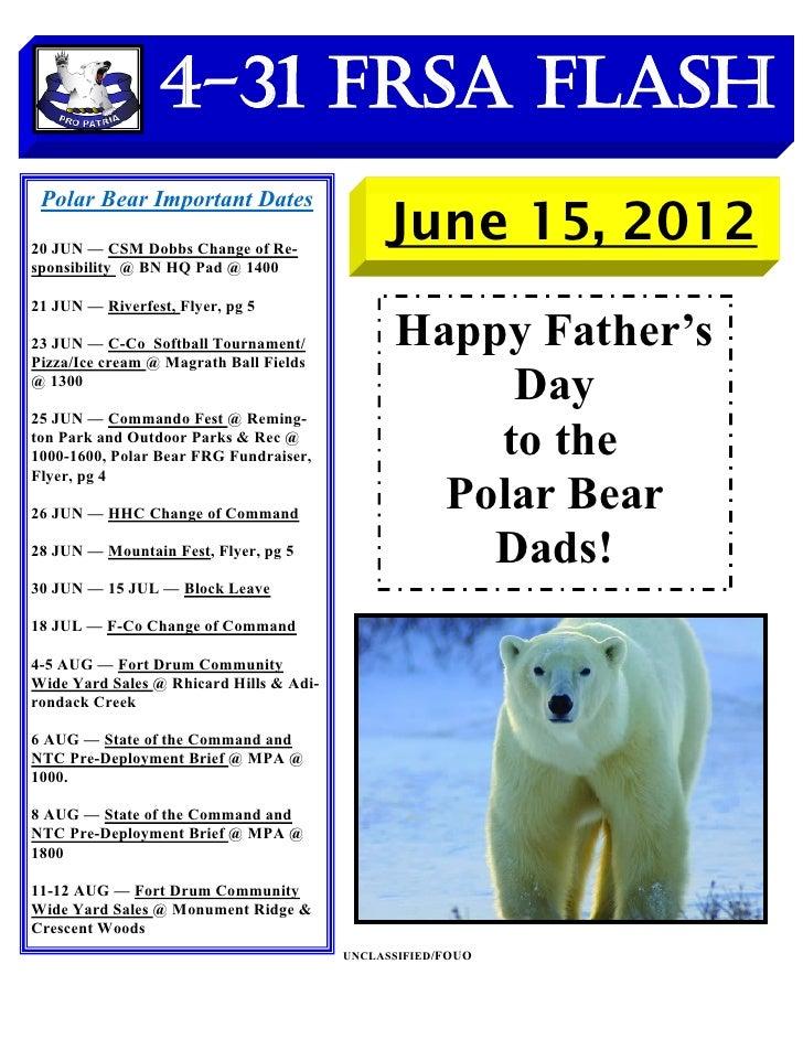 4-31 FRSA Flash Polar Bear Important Dates20 JUN — CSM Dobbs Change of Re-                                              Ju...